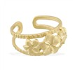 14K Yellow Gold Triple Flower Toe Ring