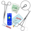 10-piece starter kit for ear piercing, optional gauge