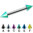 Colored cone straight barbell, 12 ga
